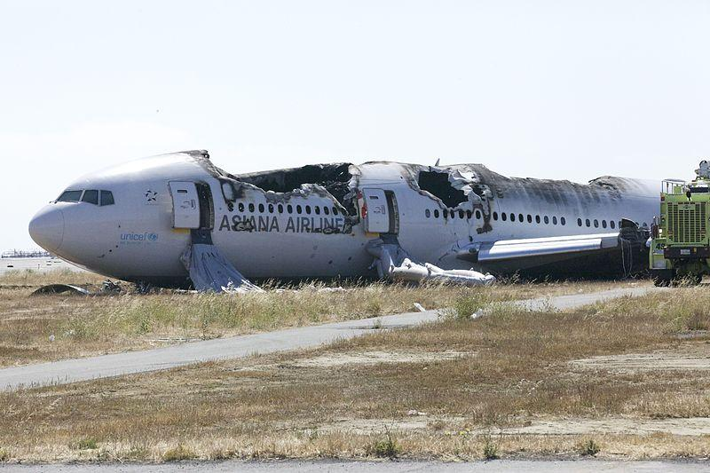 Asiana Flight 214 (via NTSB/Wikipedia Commons)