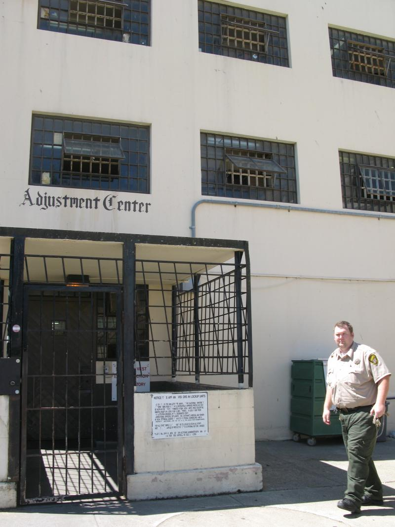 Entering the adjustment center SHU at San Quentin