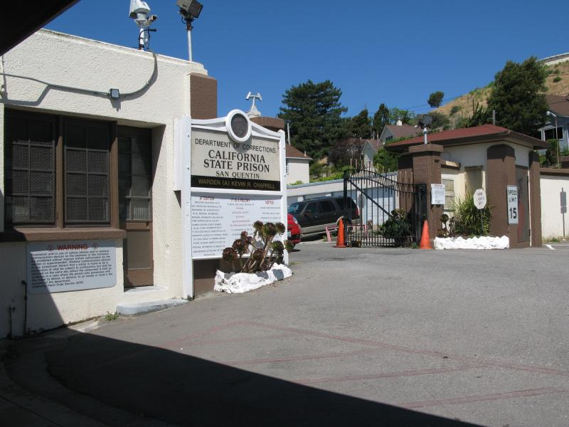 Entrance to San Quentin State Prison
