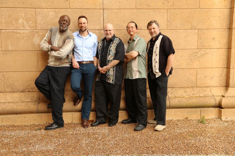 Wayne Wallace (far left) with his Latin Jazz Quintet