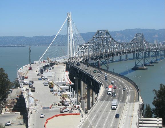 A still of the Bay Bridge from a live camera (via MTC). The Bay Bridge opening has been delayed ...