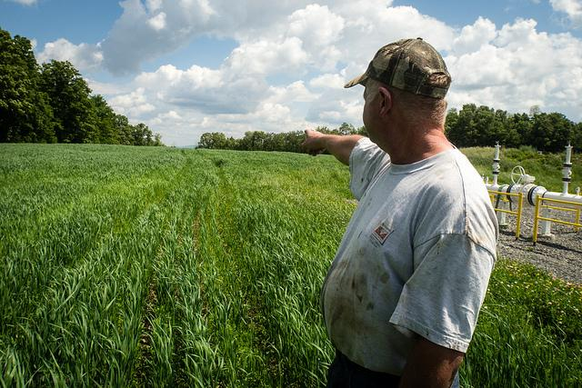 Pennsylvania farmer sees fracking's effects on farms.