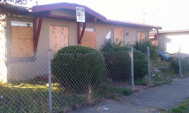 A foreclosed home in Richmond, California