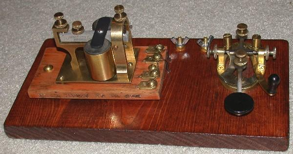 Telegraph key and sounder