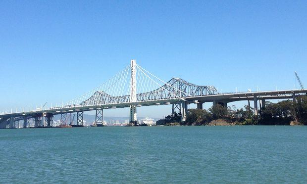 The new eastern span of the Bay Bridge, which opens Tuesday, September 3.