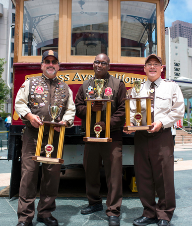 2013 Cable Car Bell Ringer winners: Ken Lunardi (2); Trini Whittiker (1); Joseph Sue (3)