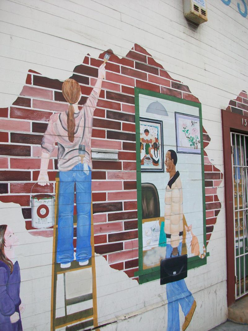 Mural on Ocean Ave, Ingleside neighborhood