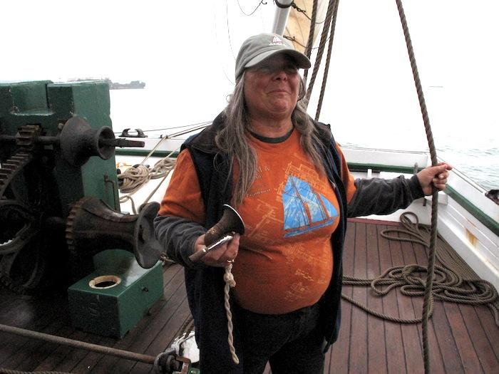 Alice Watts is the first mate on the Alma