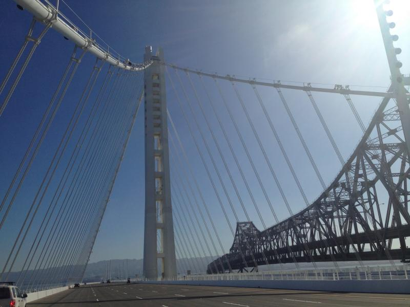 The new eastern span of the Bay Bridge on Friday Aug. 30, before it opened to traffic.