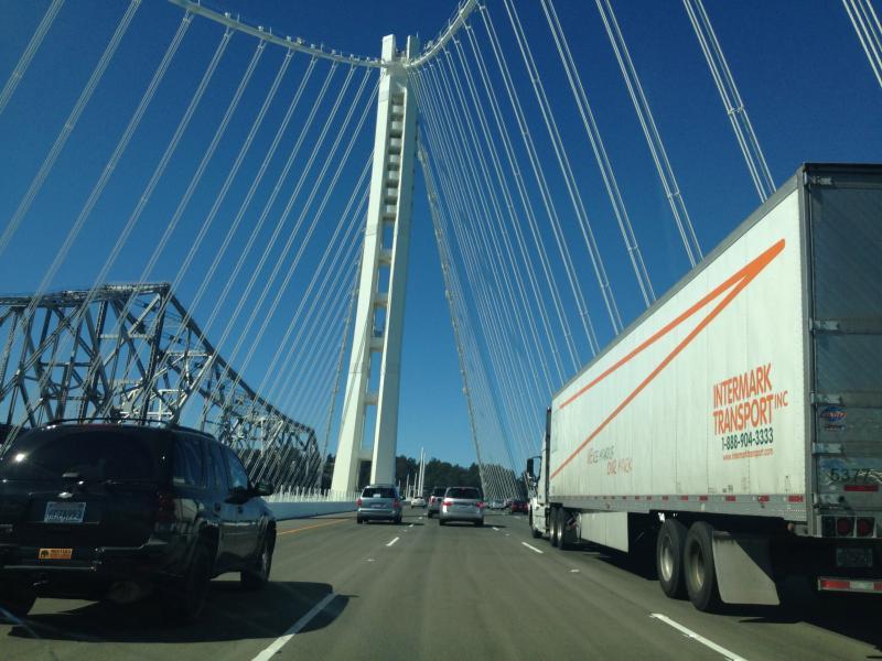 The view driving across the $6.4 billion bridge