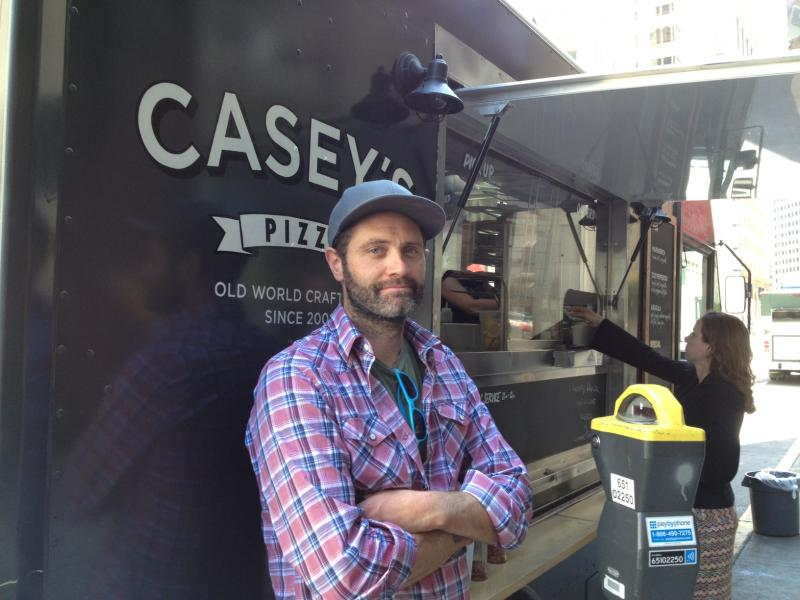Casey Crynes is the founder and owner of the pizza food truck Casey's Pizza.