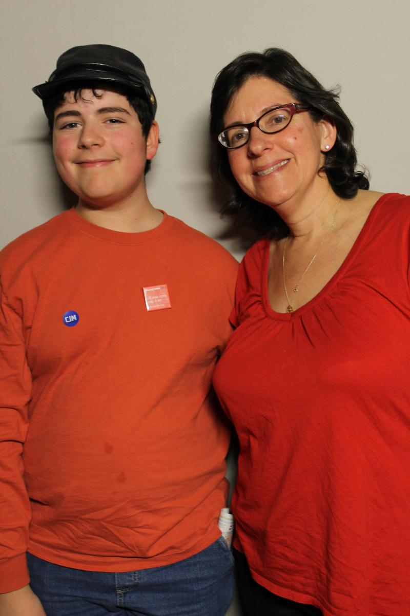 Jonah Cohen and his mother Nancy Kaufman Cohen.