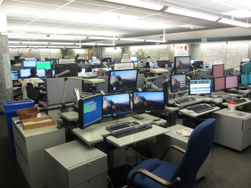 CHP call center in Vallejo.
