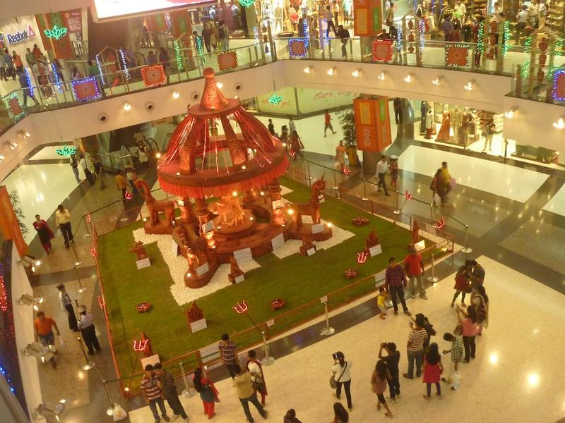 Pandal in Mall