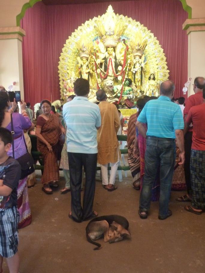 Durga Puja worshipers