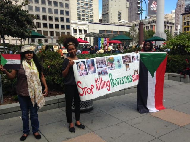 Bay Area Sudanese protest in Union Square
