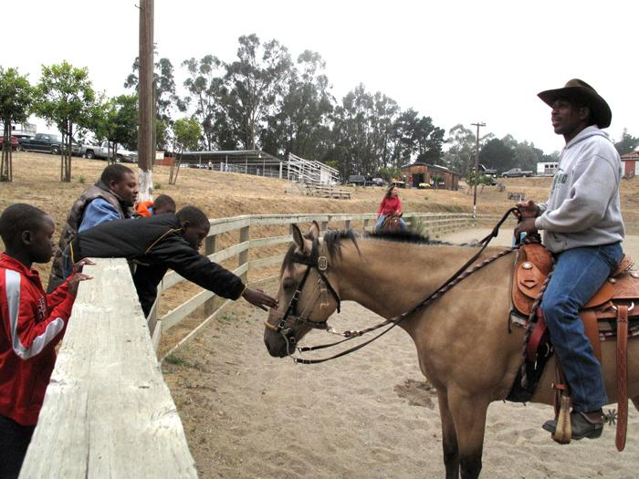 An Oakland Black Cowboy at the Oakland City Stables
