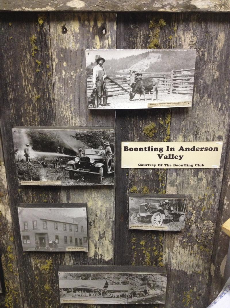 Boontling display at the Anderson Valley Historical Society.