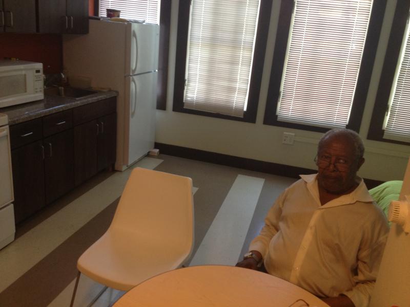 Veterans Commons resident Jesse Breedwolf, 74.