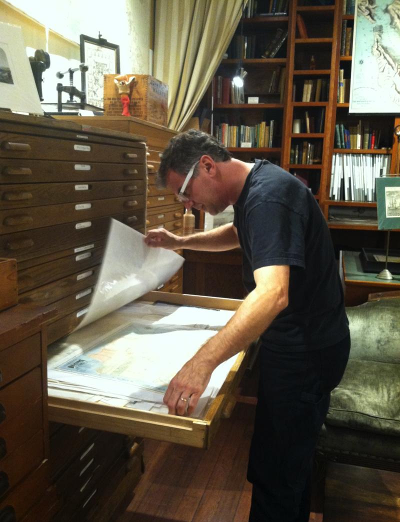 Jim Schein of Schein & Schein Antique Maps and Prints in North Beach