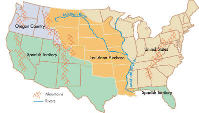 Friday December KALW - Pics of us map after the louisiana purchase