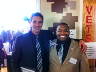 President Aundray Rogers (right) with Vice President Daniel Acree (left) of CCSF Veterans Alliance