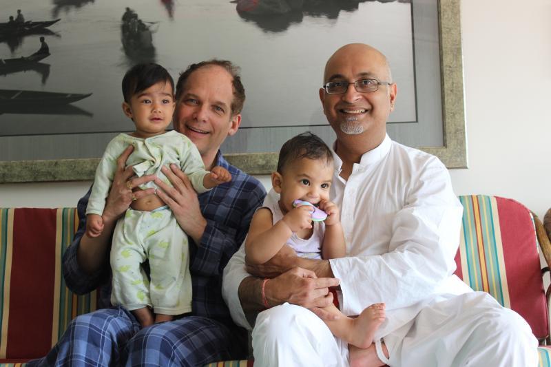 Aditya and Michael with thier kids