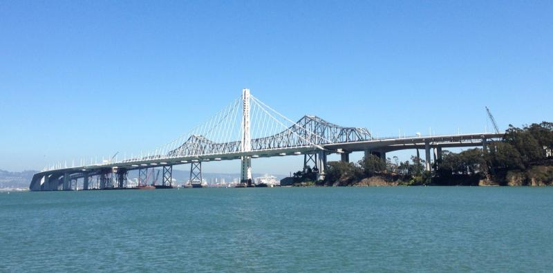 The new eastern span of the Bay Bridge