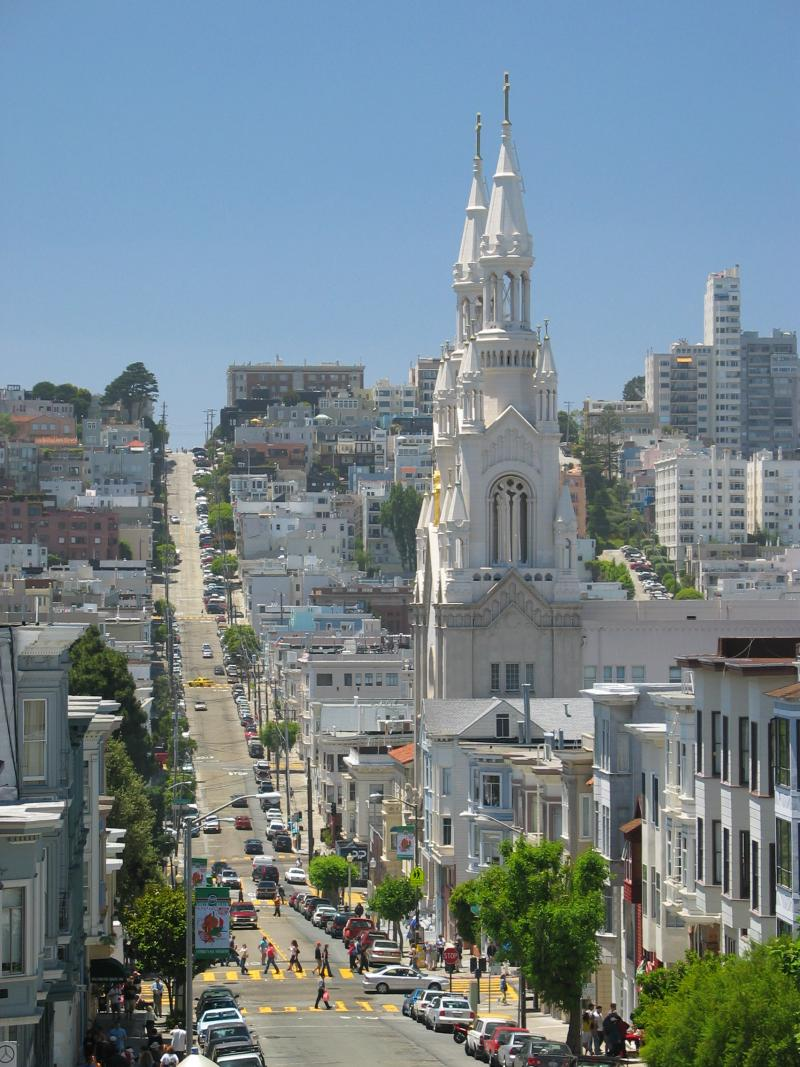 San Francisco's North Beach where Marla Knight has lived for 48 years.