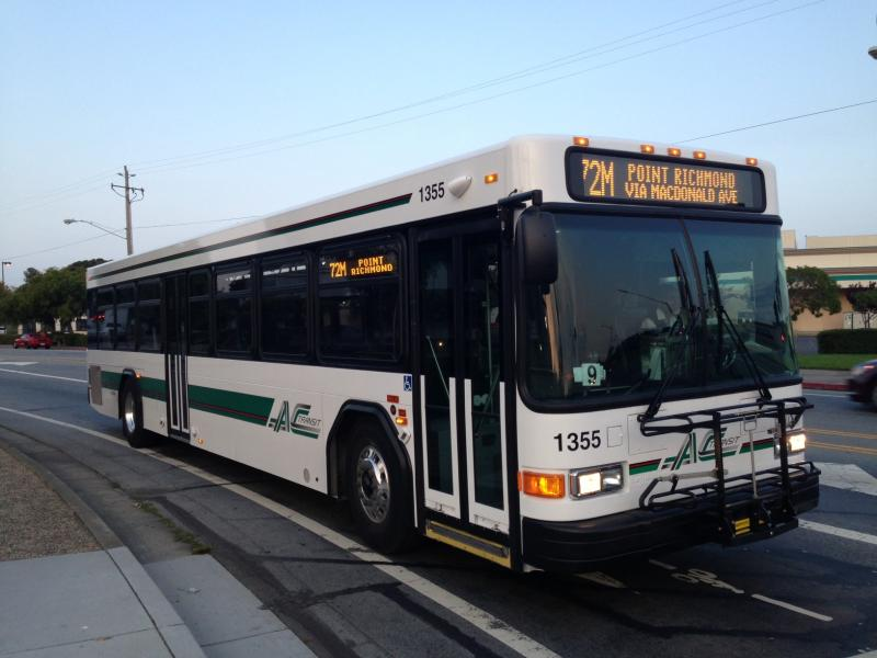 An AC Transit bus in El Cerrito.