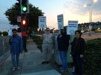 Picketers during the first BART strike in July.