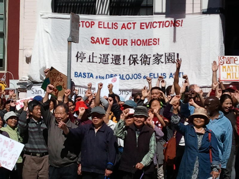 Lee family eviction protest rally