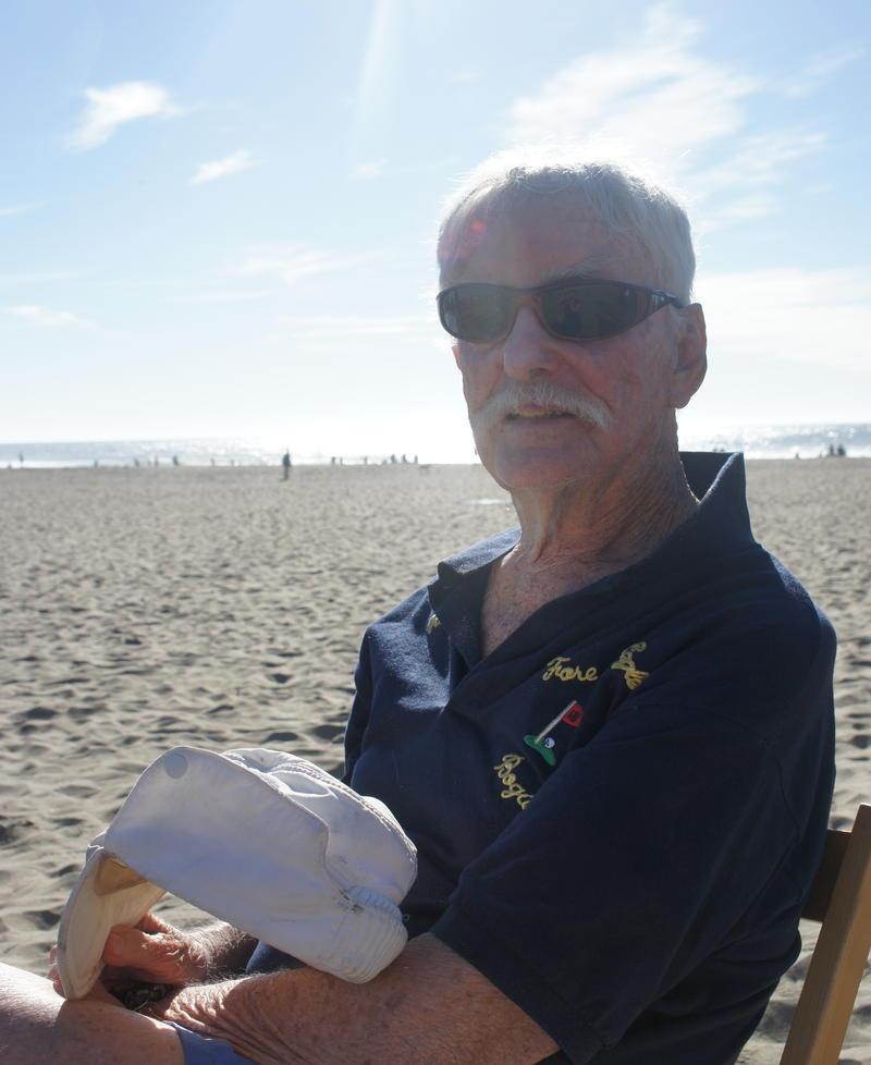 Al Peace was one of the first surfers to ride waves at Ocean Beach