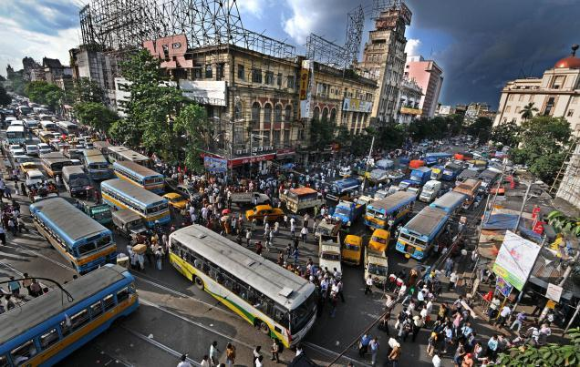 Traffic jam in Kolkata