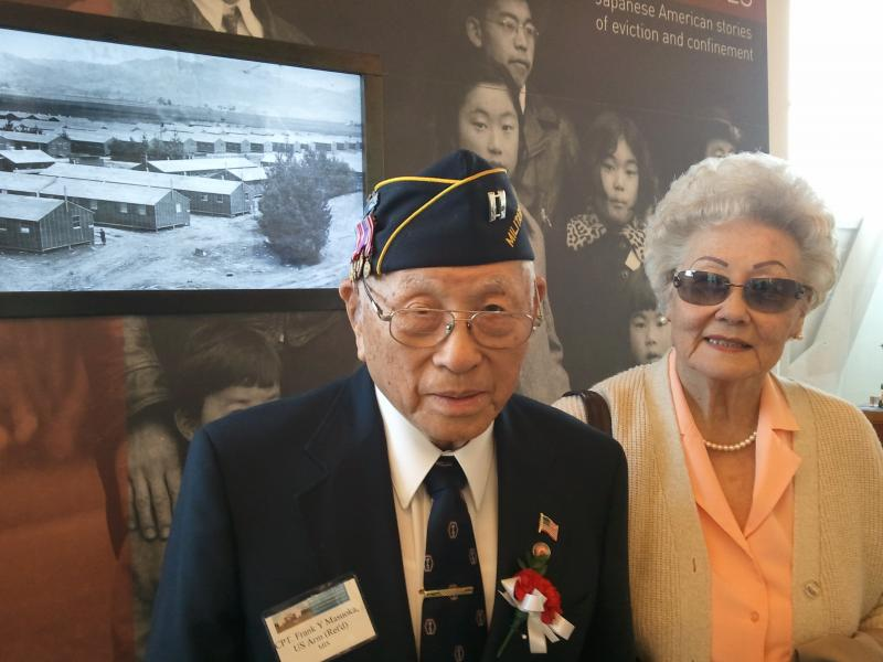 Frank and Ginger Masuoka at the Military Intelligence Service Historic Learning Center