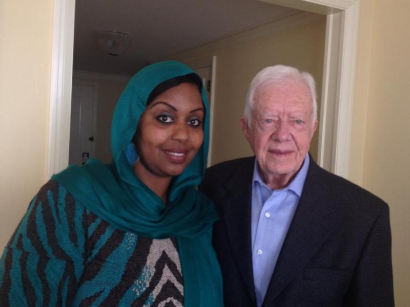 KALW's Hana Baba with Jimmy Carter, 39th president of the United States