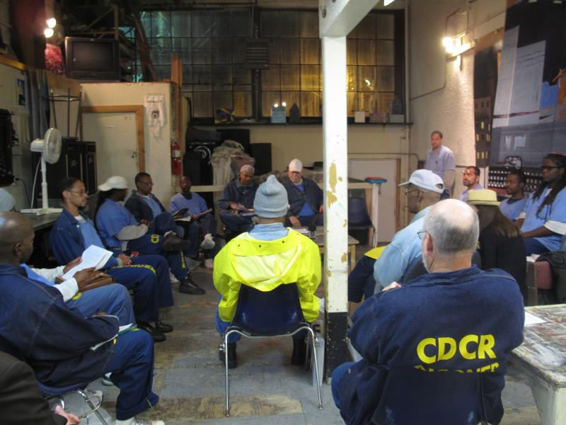 Weekly creative writing class meets at San Quentin State Prison.
