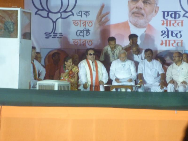 Bappi Lahiri at an election rally