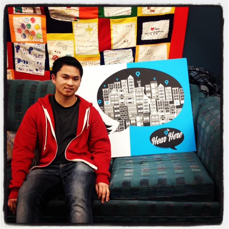 Alvin Kwok shared his story with Hear Here at Visitacion Valley Elementary School.
