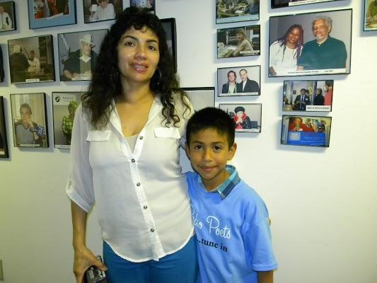 Oscar Martinez and his mom