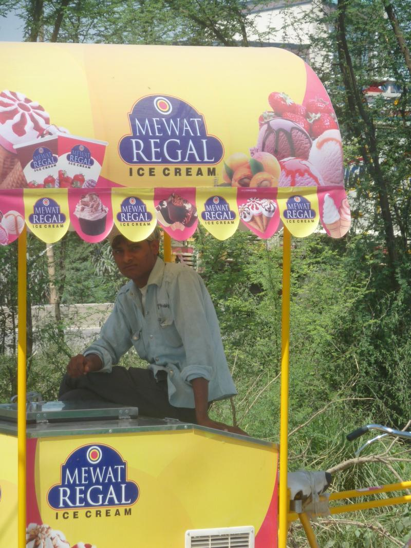 An ice cream vendor in Mewat