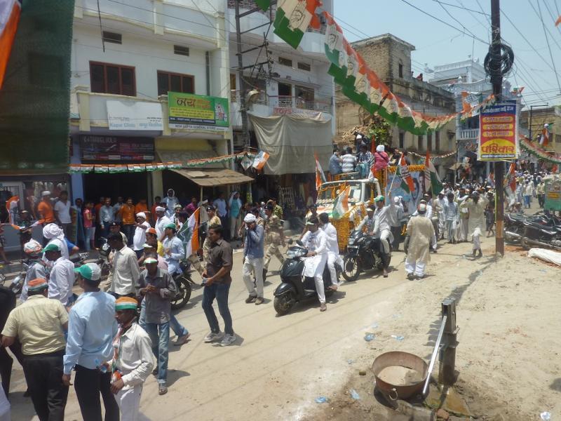 Raul Gandhi Procession