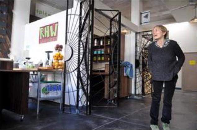 Betsy Rix inside the Marketplace
