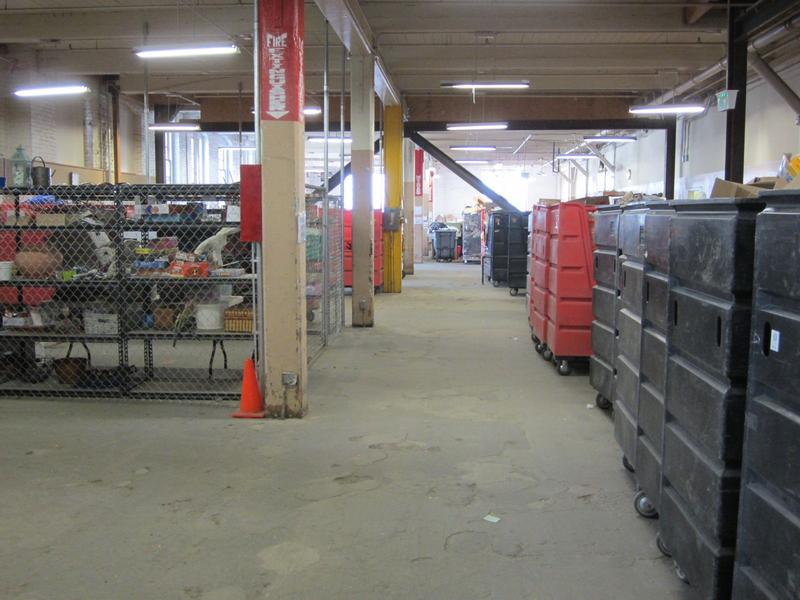 Inside Salvation Army warehouse