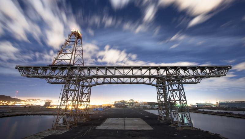Hunter's Point Shipyards are the subject of San Francisco's largest redevelopment project