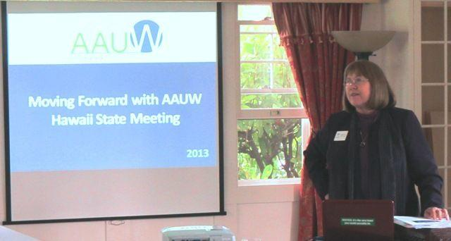 Kathleen Cha, former AAUW president, at a April 2013 conference in Hawaii