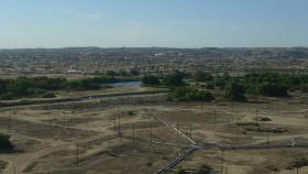 The Kern River Oil Field in the city of Bakersfield is over 10 thousand acres large, and densely packed with pumpjacks.