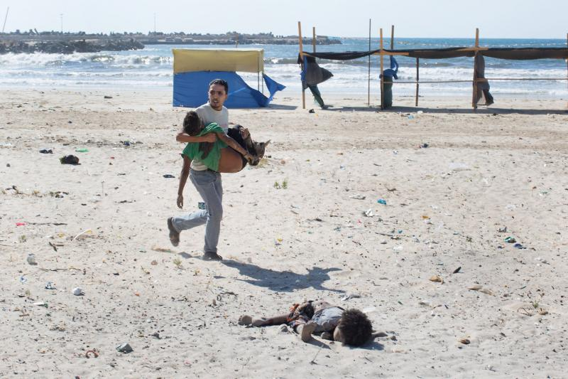 An Israeli airstrike targeting Gaza killed 4 Palestinian children playing on the beach