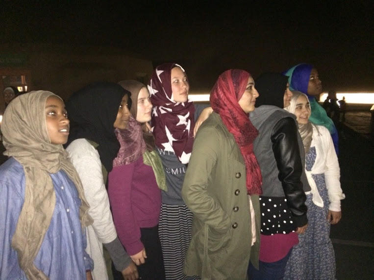 East Bay Muslim women look up in search for the new moon.