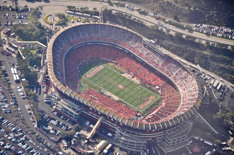 Aerial view of Candlestick Park